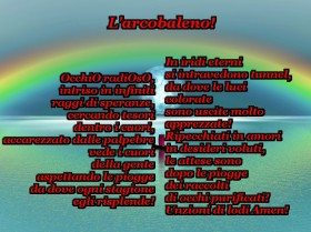 Poesia Preghiera Arcobaleno Amore Cuori Occhi